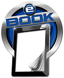 Tablet Computer with eBook Icon