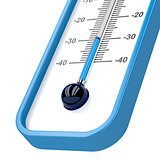 Close-up of mercury thermometer