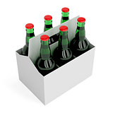 Lager beer bottles