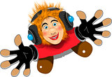 Cheerful Redhaired DJ