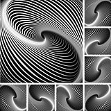 Illusion of whirl movement. Abstract background.