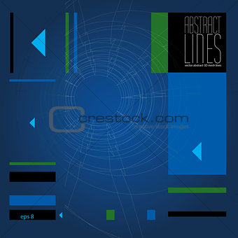 Abstract background, 3D abstract lines vector illustration, comm