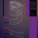 Abstract lines vector illustration, communication and digital te