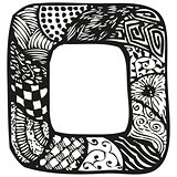 Hand drawn doodling frame for text or photo