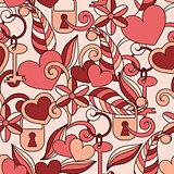 Vector Seamless Valentine's pattern