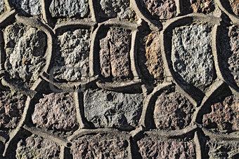 Ancient granite wall