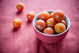 Bowl of fresh cherry tomatoes