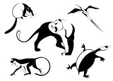 Decor animal silhouette illustration
