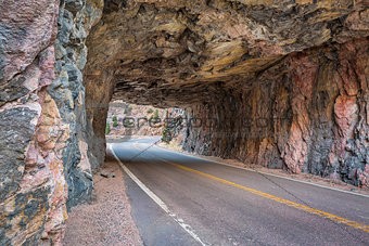 Poudre Canyon tunnel
