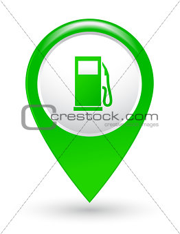 green gas station pointer