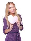 Happy romantic girl