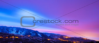 Beautiful mountains panoramic landscape