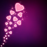 Romantic purple background