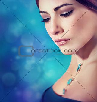 Beautiful woman fashion portrait