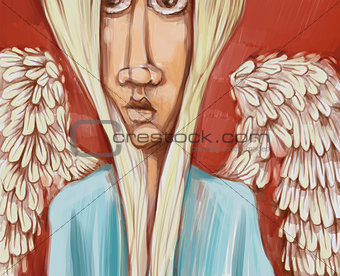 angel digital painting