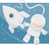 little spaceman cartoon illustration