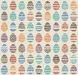 Seamless easter vintage pattern with eggs