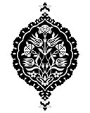 black artistic ottoman seamless pattern series sixty six