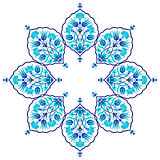 blue artistic ottoman seamless pattern series sixty eight