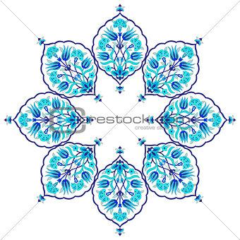 blue artistic ottoman seamless pattern series sixty eight