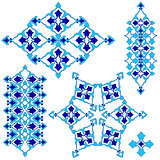 blue artistic ottoman seamless pattern series sixty four