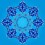 blue artistic ottoman seamless pattern series sixty three