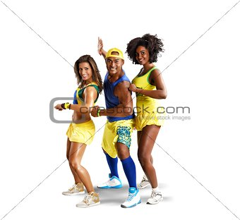 Three dancer