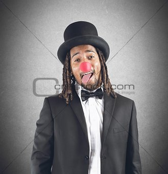 Dressing up as  clown