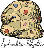 Isolated Spherulitic Rhyolite Cartoon