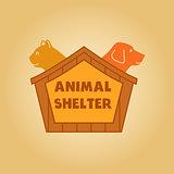 Vector icon logo for an animal shelter.
