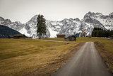 Buckelwiesen with Karwendel Mountains, Bavaria, Germany