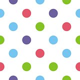 Tile vector pattern with polka dots