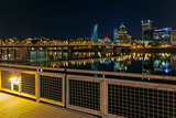 Portland Eastbank Esplanade Waterfront at Night