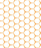 Vector seamless background. Backdrop. Empty honeycomb