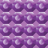 Vector seamless background of purple gemstones