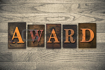 Award Wooden Letterpress Concept