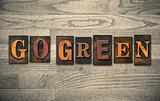 Go Green Wooden Letterpress Concept