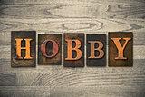 Hobby Wooden Letterpress Concept