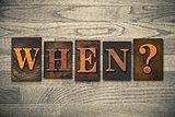 When Wooden Letterpress Concept