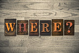 Where Wooden Letterpress Concept