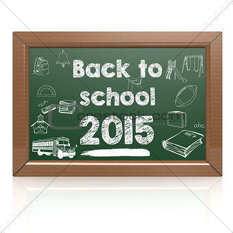 Back to school 2015 green blackboard