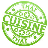 Thai cuisine stamp