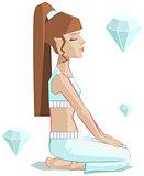 Girl yoga. Vajrasana