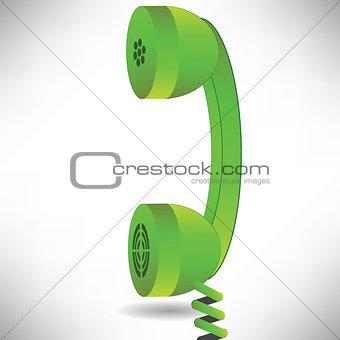 green handset
