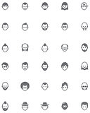 Vector men faces icon set