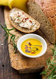 bread and mustard oil