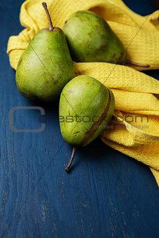 Three juicy pears