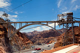 The Hoover Bridge from the Hoover Dam, Nevada - HDR Image