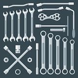 flat style various wrench set