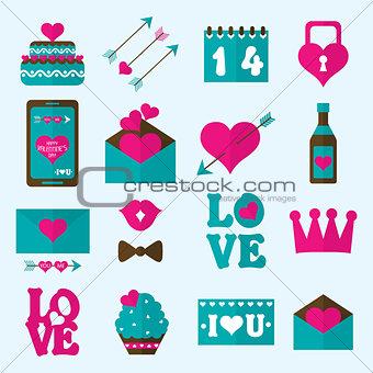 Valentine flat icon, vector